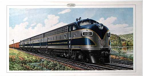 1940's GM Ben Dedek Vintage Richmond Line Train Poster Print