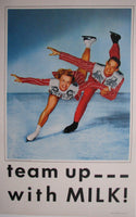 1950's Vintage Shipstads & Johnson Ice Follies Milk Skating Poster