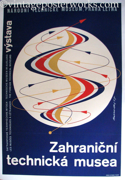 1958 Prague signed Czechoslovakia National Technical Museum Poster