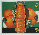 1920's Eze Orange Original Soft Drink Vintage Soda Poster Sign
