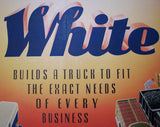 1920's White Truck Co. Vintage Antique Poster Sign