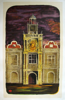 1950 S John Woods British Rail London Underground Travel Poster
