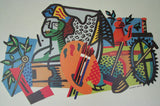 1987 Stuart Davis: New Deal for American Art WPA Poster