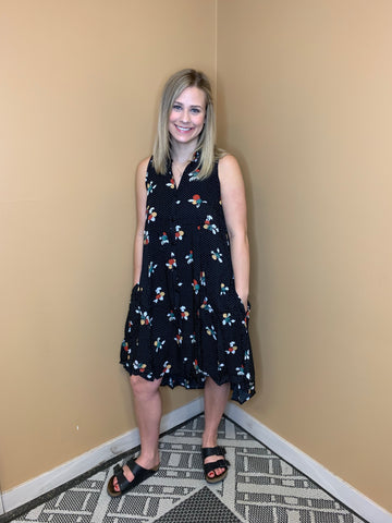 Polka Dot Flower Dress