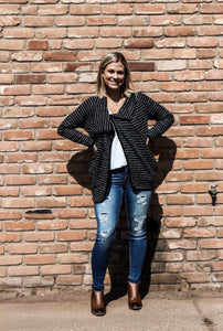 The Papillon Striped Zipper Jacket