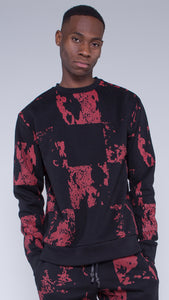 KRBN Industries Liquid Men's Sweatshirt Black / Red
