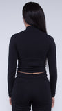 KRBN Industries Exogan Women's Cropped Long Sleeve Shirt Black