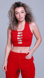 Akira Women's Crop Top Red