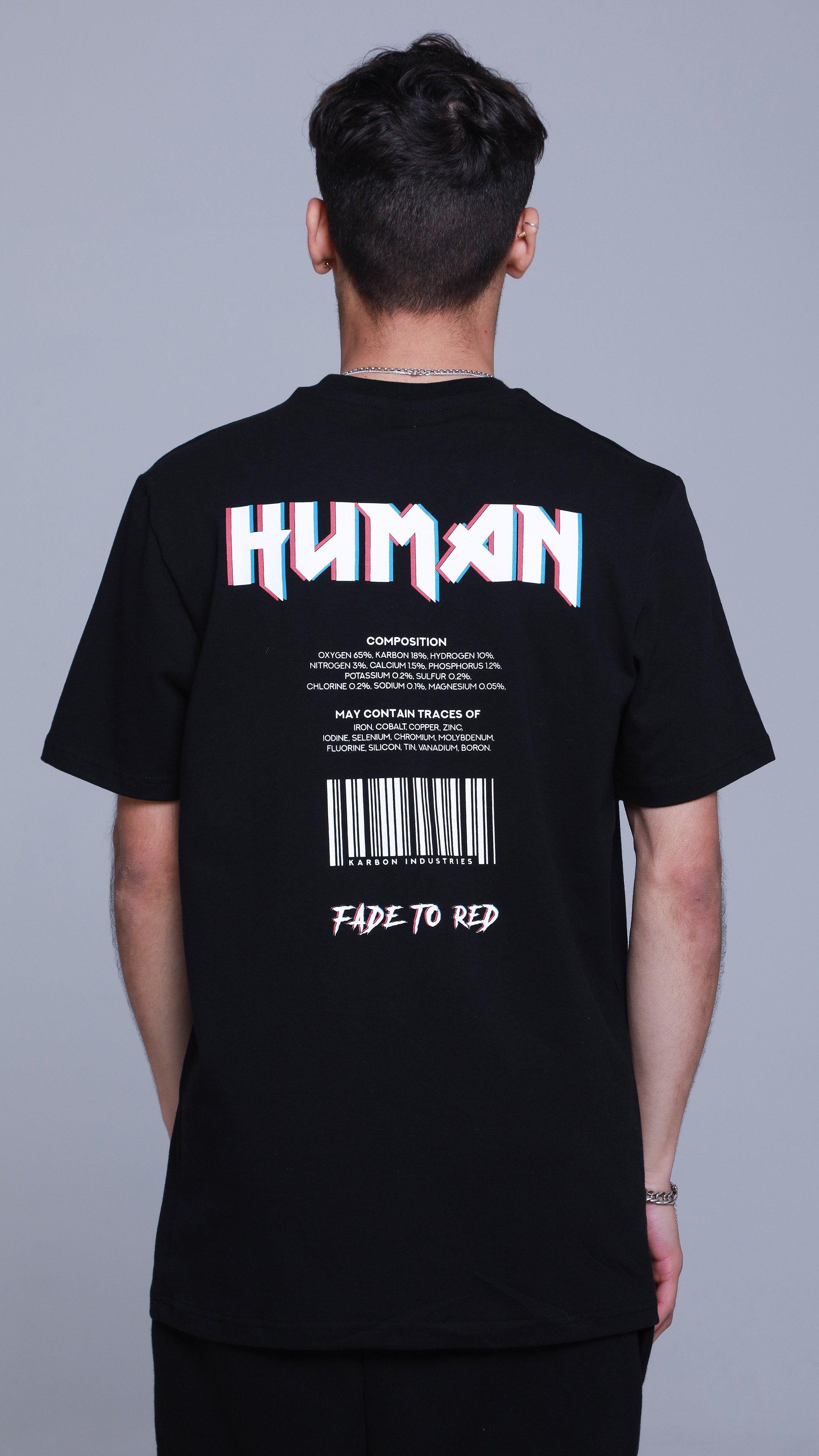KRBN Industries Human T-shirt Black