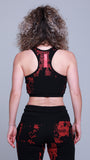 Akira Women's Crop Top Black / Red