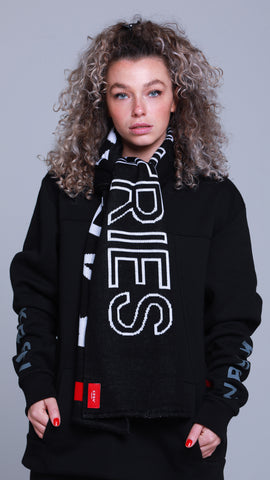 KRBN Industries Mono Scarf Black Unisex