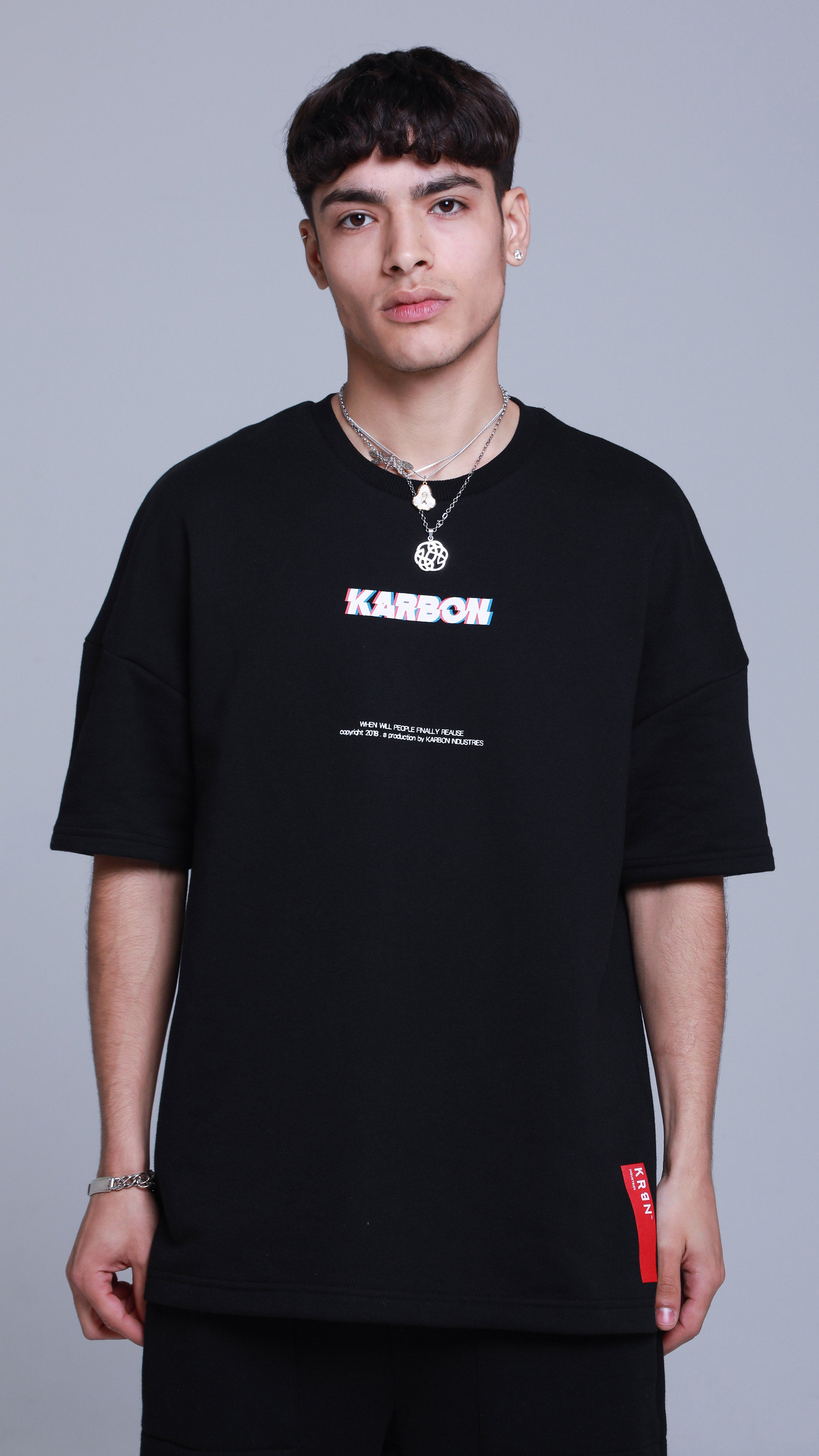 KRBN Industries Glitch T-shirt Black