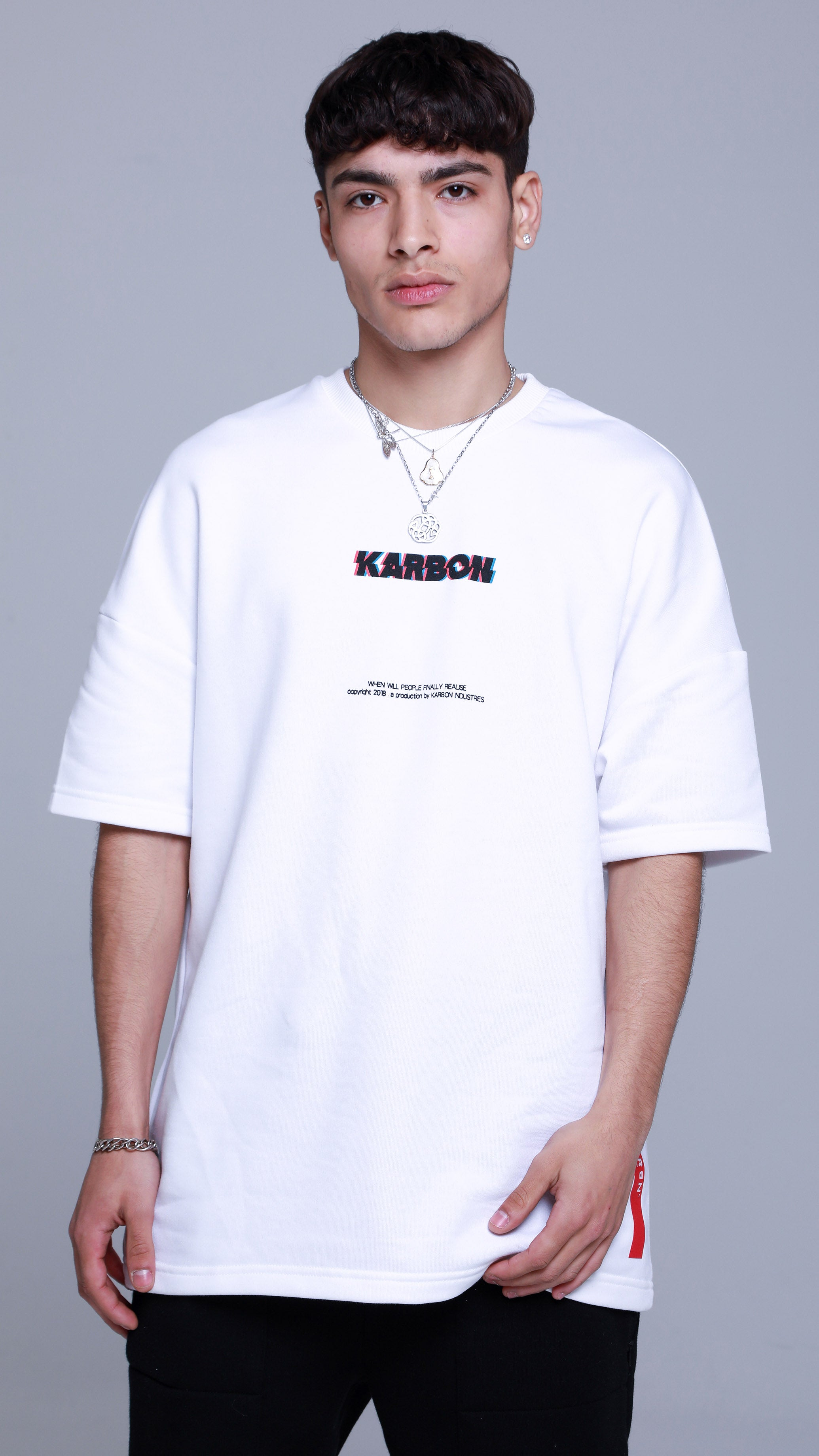 KRBN Industries Glitch T-shirt White
