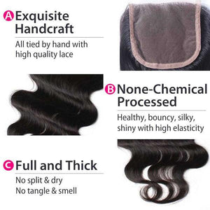 Body Wave Lace Closure - Alexandria's Beauty