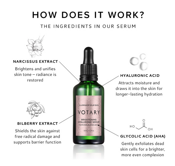 Votary London · NEW BRIGHTENING HYALURONIC SERUM