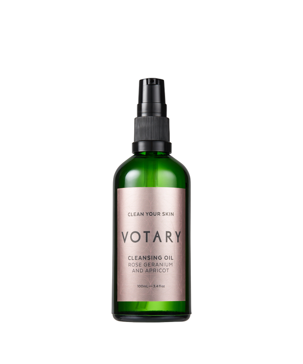 Votary London · Cleansing Oil Rose Geranium & Apricot · Renseolie