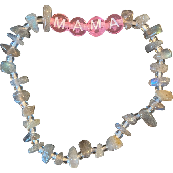 Lucky Love Bracelet • MAMA Pink Grey Crystal