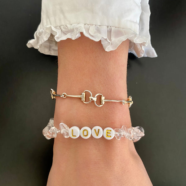 Lucky Love Bracelet • Love Clear Crystal