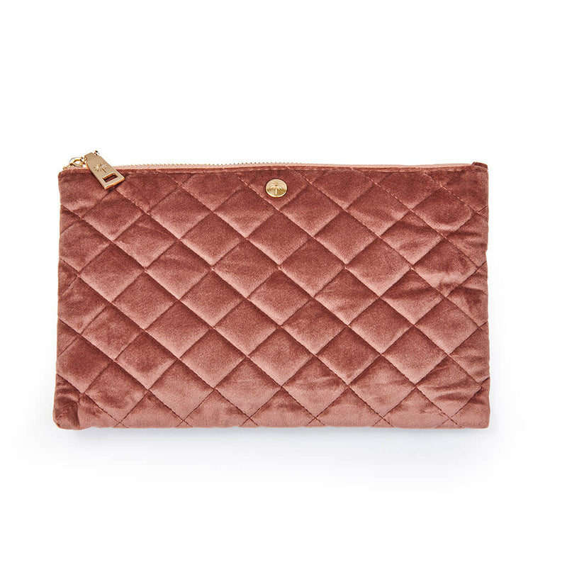 Fan Palm · Quilted velvet Clutch