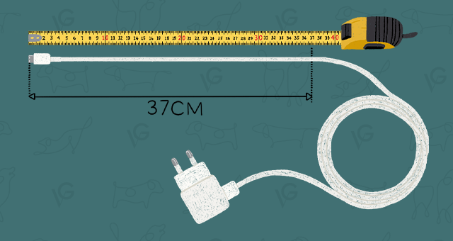 Charge cable length measure