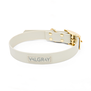 Valgray Yellow Gold Waterproof Dog Collar for X-Large Dog Breeds
