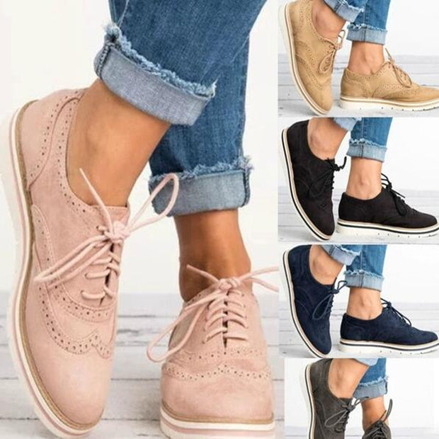 Women Flats Lace-Up Casual Shoes