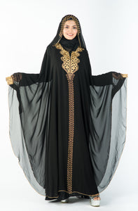 Cleopatra Kaftan with Beautiful Golden Stone Work