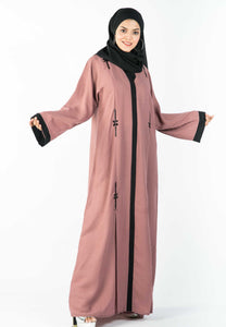A-Line Abaya with Pleated Flair