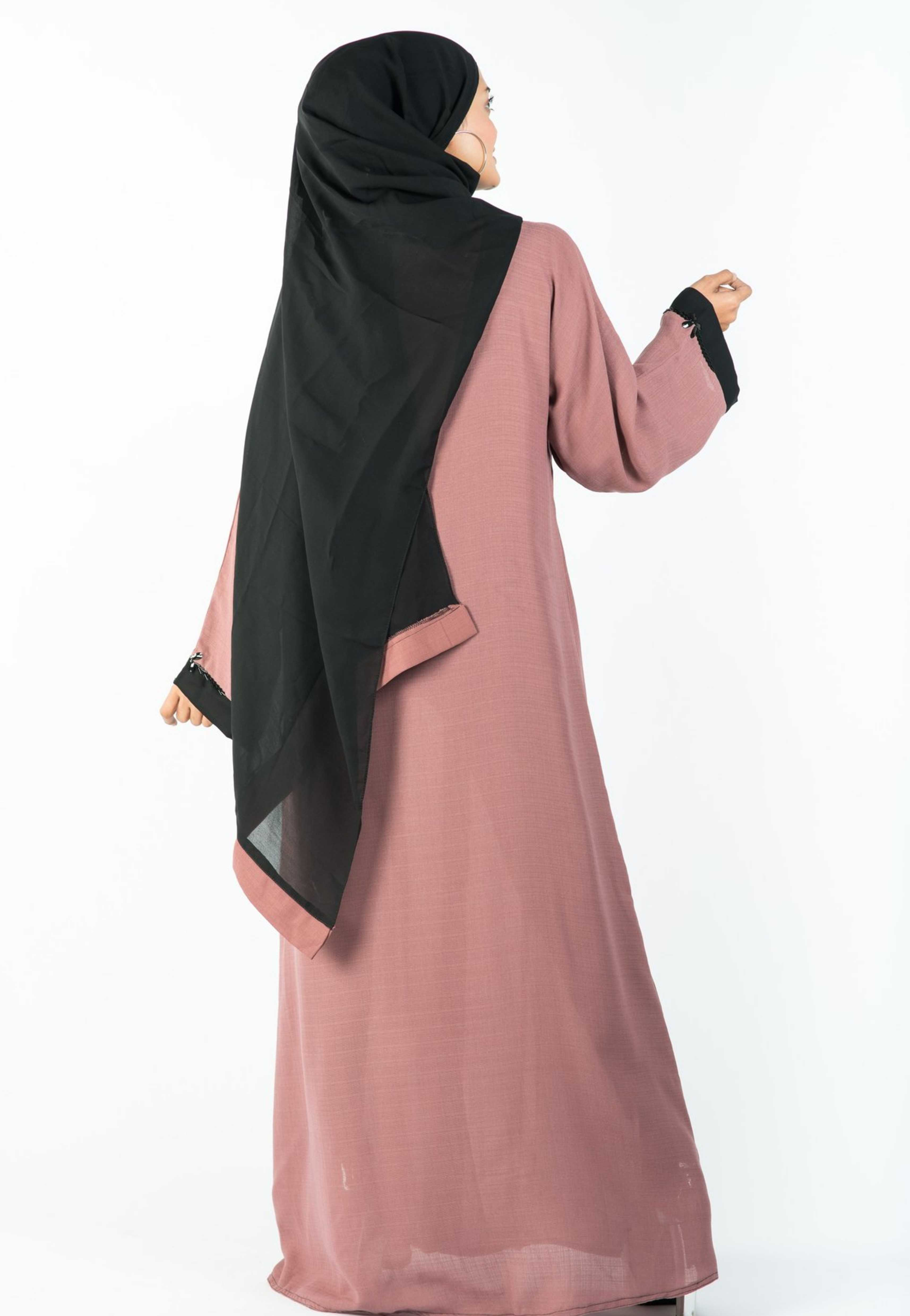 Load image into Gallery viewer, A-Line Abaya with Pleated Flair