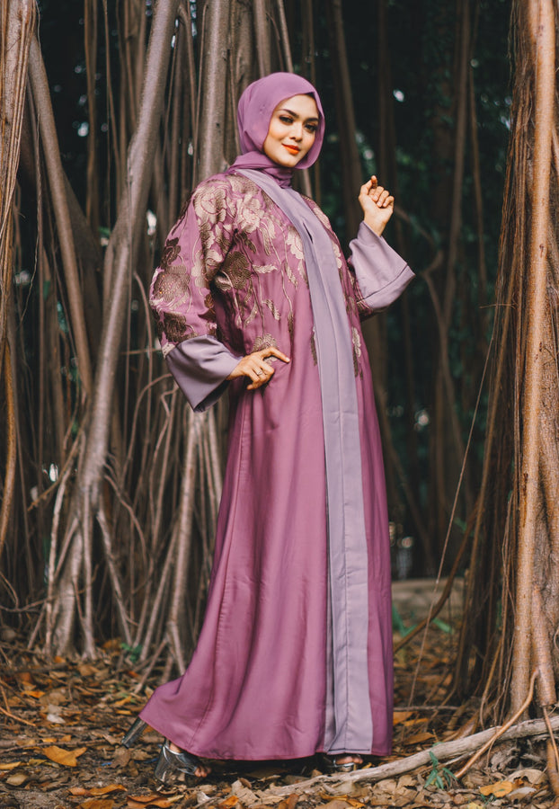 Pastel Two-toned A-Line Abaya