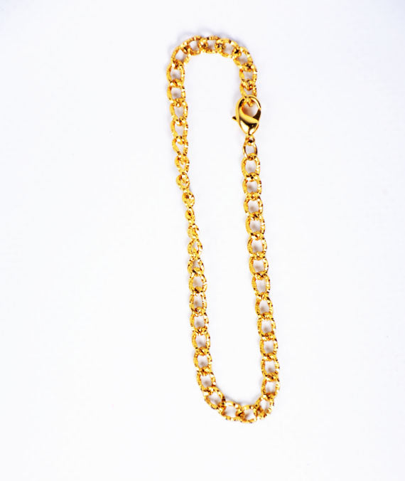 Gold Chain Steel Bracelet