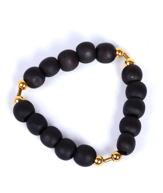 Coffee Matte 925 Bracelet (Gold Touch)
