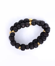 Load image into Gallery viewer, 2-In-1 Matte Black 925 Gold Bracelet