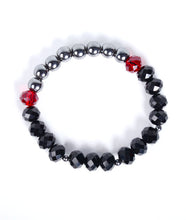 Load image into Gallery viewer, Crystal Hematite Bracelet - Red