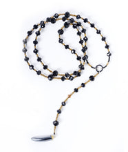 Load image into Gallery viewer, Crystal Black Horn Necklace