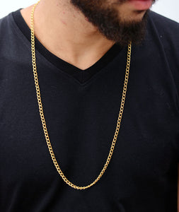 Gold Steel Chain Necklace