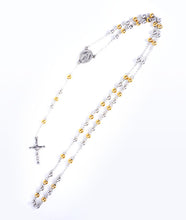 Load image into Gallery viewer, Silver/Gold Rosary Necklace