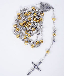 Silver/Gold Rosary Necklace