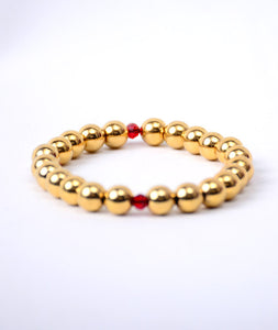 Sterling Gold + Red Ruby