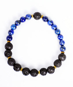 2-Faced Black/Blue Bracelet