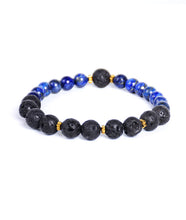 Load image into Gallery viewer, 2-Faced Black/Blue Bracelet