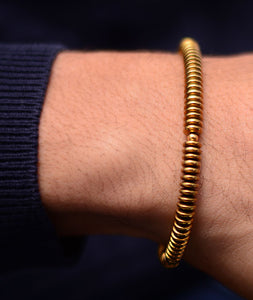 String Feel Gold Steel Bracelet