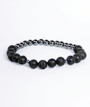 Load image into Gallery viewer, 2-Faced Black/Hematite Bracelet