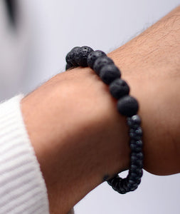 2-Faced Black/Hematite Bracelet
