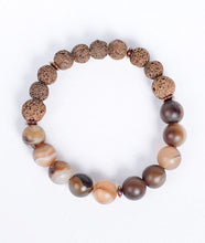Load image into Gallery viewer, 2-Faced Brown Lava Bracelet