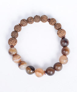 2-Faced Brown Lava Bracelet