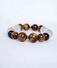 Load image into Gallery viewer, 2-Faced Tiger/Onyx White Bracelet