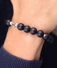 Load image into Gallery viewer, Onyx Matte 925 Silver Blend Bracelet