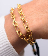 Load image into Gallery viewer, Chain Cuff Rope Tassle Gold Bracelet
