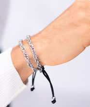 Load image into Gallery viewer, Chain Cuff Rope Tassle Silver Bracelet
